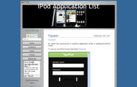 iPod Application List
