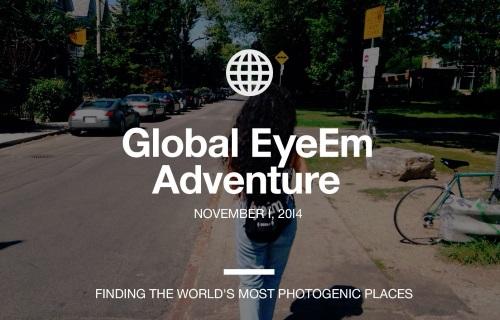 2014年 11月1日 Global EyeEm Adventureが世界中で開催!東京もあります。参加者募集してます。