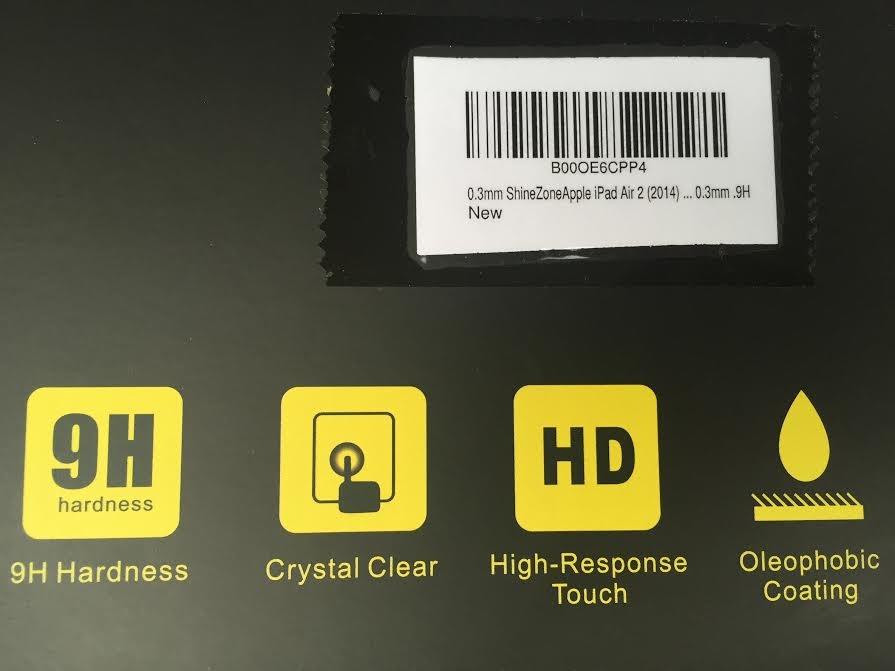 【ShineZone】Apple iPad Air 2 (2014) 専用強化ガラスフィルム